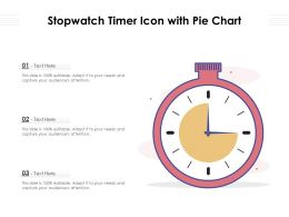 Stopwatch Timer Icon With Pie Chart