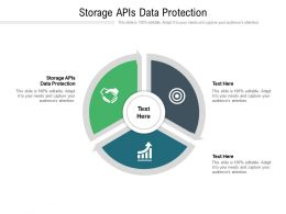 Storage APIs Data Protection Ppt Powerpoint Presentation File Topics Cpb