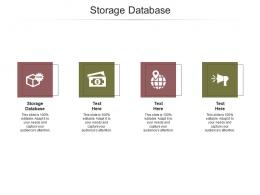 Storage Database Ppt Powerpoint Presentation Pictures Deck Cpb