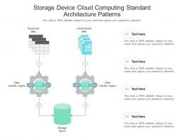 Storage Device Cloud Computing Standard Architecture Patterns Ppt Presentation Diagram