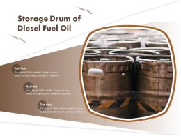 Storage Drum Of Diesel Fuel Oil