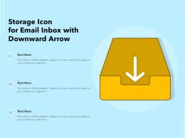 Storage Icon For Email Inbox With Downward Arrow