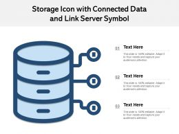Storage Icon With Connected Data And Link Server Symbol