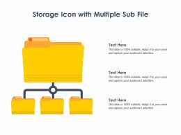 Storage Icon With Multiple Sub File