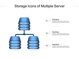 Storage Icons Of Multiple Server