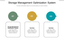 Storage Management Optimization System Ppt Powerpoint Presentation Summary Icon Cpb