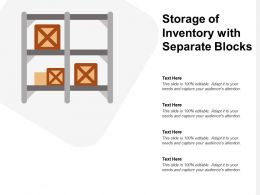 Storage Of Inventory With Separate Blocks