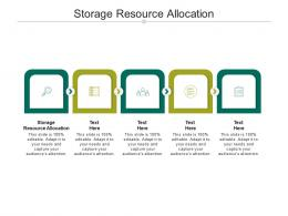 Storage Resource Allocation Ppt PowerPoint Presentation Layouts Graphics Cpb