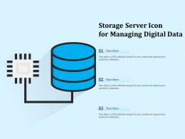 Storage Server Icon For Managing Digital Data