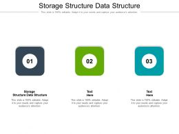 Storage Structure Data Structure Ppt Powerpoint Presentation Layouts Show Cpb