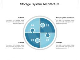 Storage System Architecture Ppt Powerpoint Presentation Outline Files Cpb