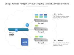 Storage Workload Management Cloud Computing Standard Architecture Patterns Ppt Presentation Diagram
