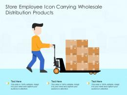 Store Employee Icon Carrying Wholesale Distribution Products