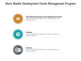 Store Market Development Funds Management Program Ppt Show Slide Cpb