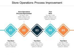 Store Operations Process Improvement Ppt Powerpoint Presentation Slides Slideshow Cpb