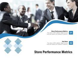 Store Performance Metrics Ppt Powerpoint Presentation Ideas Templates Cpb