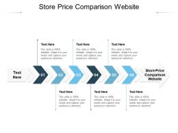 Store Price Comparison Website Ppt Powerpoint Presentation Infographics Guide Cpb