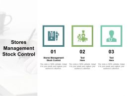 Stores Management Stock Control Ppt Powerpoint Presentation File Layout Cpb