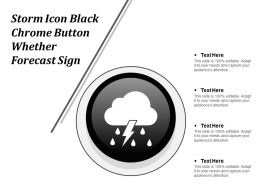 Storm Icon Black Chrome Button Whether Forecast Sign