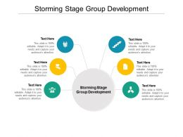 Storming Stage Group Development Ppt Powerpoint Presentation Inspiration Images Cpb