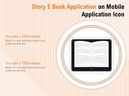 Story E Book Application On Mobile Application Icon