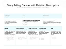 Story Telling Canvas With Detailed Description