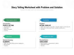 Story Telling Worksheet With Problem And Solution