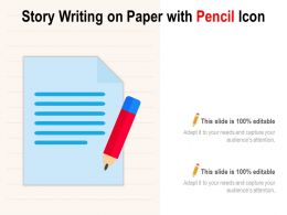 Story Writing On Paper With Pencil Icon