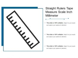 Straight Rulers Tape Measure Scale Inch Millimeter