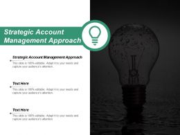 Strategic Account Management Approach Ppt Powerpoint Presentation Slides Background Designs Cpb