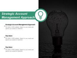 Strategic Account Management Approach Ppt Powerpoint Presentation Slides Background Designs Cpb