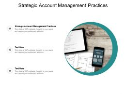 Strategic Account Management Practices Ppt Powerpoint Presentation Portfolio Cpb