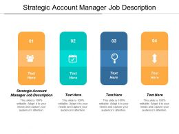 Strategic Account Manager Job Description Ppt Powerpoint Presentation Model Cpb