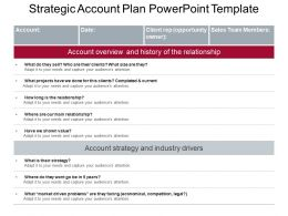Strategic Account Plan Powerpoint Template