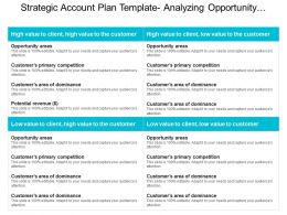 Strategic Account Plan Template Analyzing Opportunity Areas Ppt Example