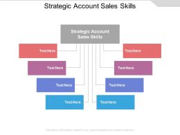 Strategic Account Sales Skills Ppt Powerpoint Presentation Gallery Clipart Cpb