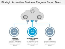 Strategic Acquisition Business Progress Report Team Building Motivation Cpb