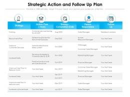 Strategic Action And Follow Up Plan