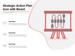 Strategic Action Plan Icon With Board