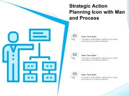 Strategic Action Planning Icon With Man And Process