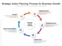 Strategic Action Planning Process For Business Growth