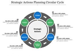 Strategic Actions Planning Circular Cycle