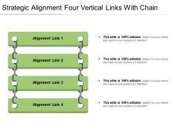 Strategic Alignment Four Vertical Links With Chain