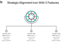 Strategic Alignment Icon With 3 Features