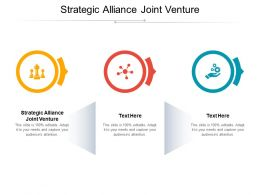 Strategic Alliance Joint Venture Ppt Powerpoint Presentation Model Microsoft Cpb