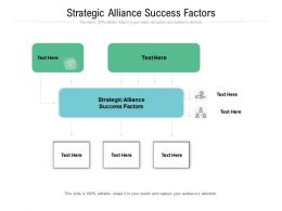 Strategic Alliance Success Factors Ppt Powerpoint Presentation Slides Vector Cpb