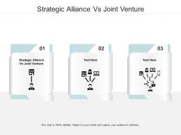 Strategic Alliance Vs Joint Venture Ppt Powerpoint Presentation Model Example Cpb