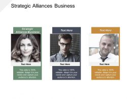 Strategic Alliances Business Ppt Powerpoint Presentation Model Structure Cpb