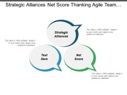 Strategic Alliances Net Score Thanking Agile Team Business Chart Cpb
