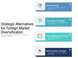Strategic Alternatives For Foreign Market Diversification